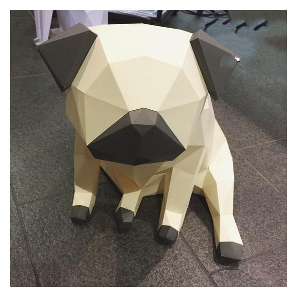Mô hình giấy 3D | Mô hình trang trí nhà cửa | Mô hình giấy 3D Chó Pug - 9835057 , 8434806795563 , 62_17585250 , 390000 , Mo-hinh-giay-3D-Mo-hinh-trang-tri-nha-cua-Mo-hinh-giay-3D-Cho-Pug-62_17585250 , tiki.vn , Mô hình giấy 3D | Mô hình trang trí nhà cửa | Mô hình giấy 3D Chó Pug