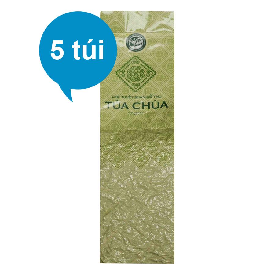 Combo 5 Túi Chè Tuyết Shan Tủa Chùa Dien Bien Food (200g / Túi)