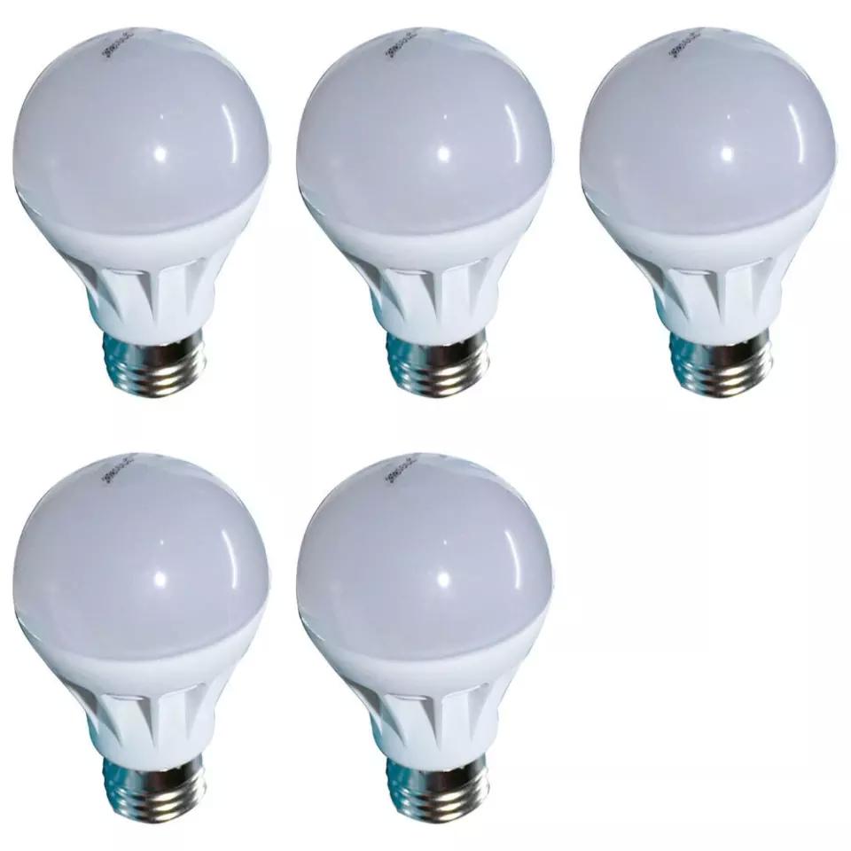Bộ 5 cái đèn LED búp nhựa phủ matt Gnesco 5W (Trắng ấm)