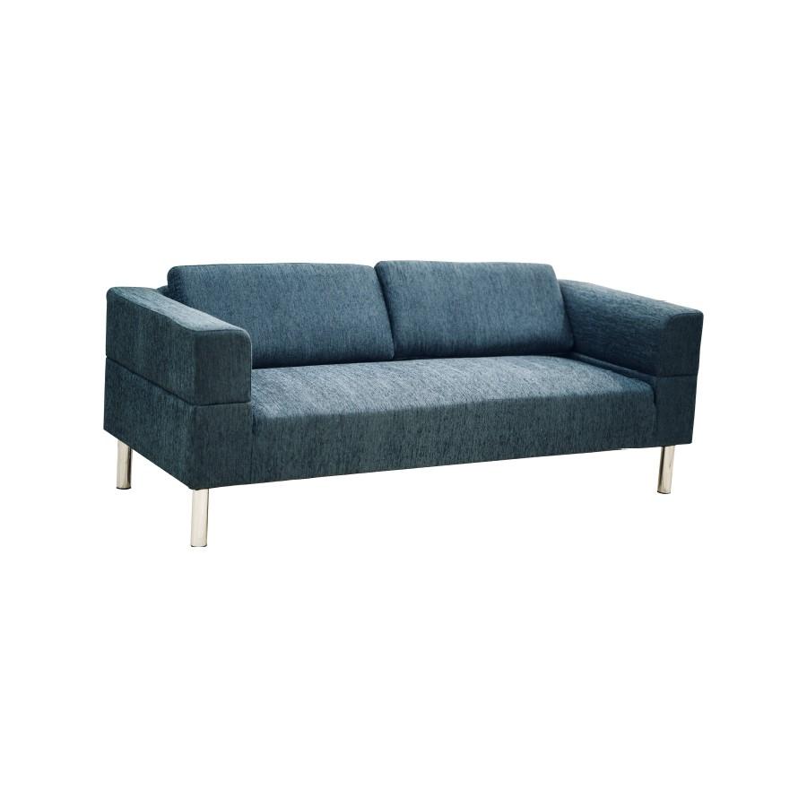 Sofa Boca 3S Vải Polyester JYSK - Màu Xanh Dương Đậm