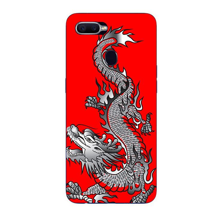 Ốp Lưng Dẻo Cho Điện thoại Oppo F9 - Dragon 04