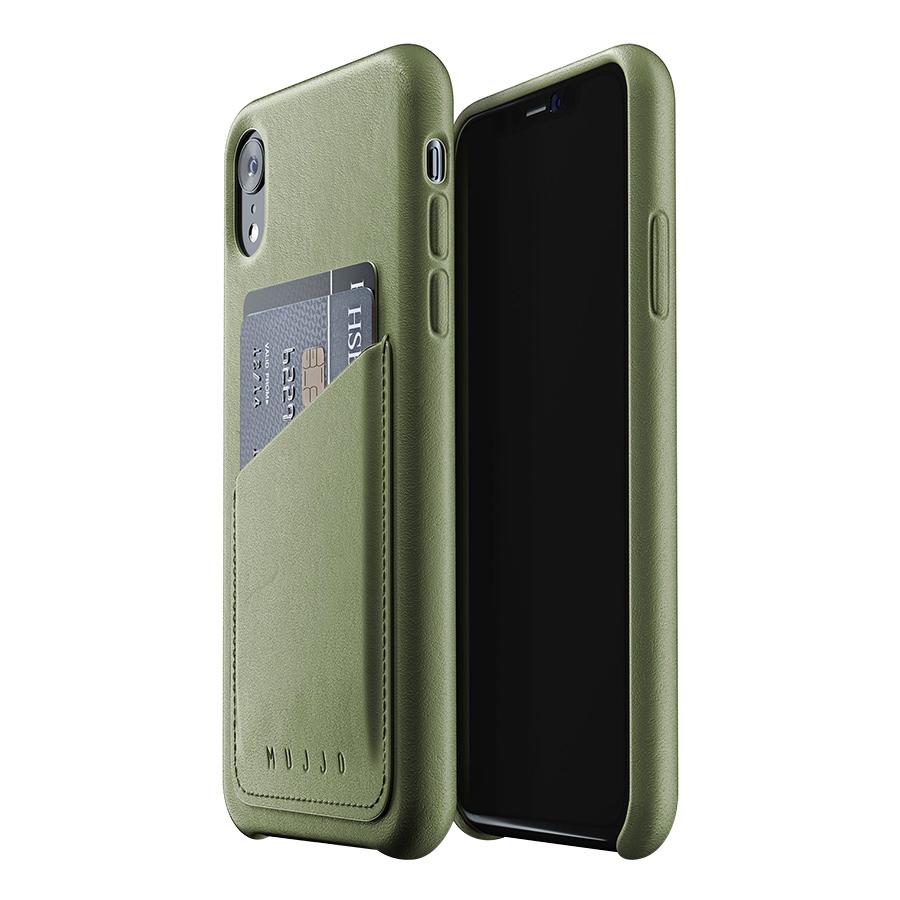 Ốp Lưng Bằng Da Kèm Ví Dành Cho iPhone XR Mujjo