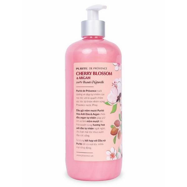 Dầu Gội Mềm Mượt Purite By Provence Cherry Blossom  Argan Normal Hair (650ml)
