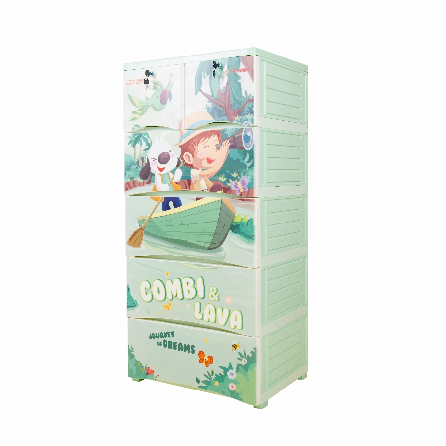 Combi  Lava - Tủ nhựa 5 ngăn YoYo Vĩ Hưng 9145 (Giao màu ngẫu nhiên)