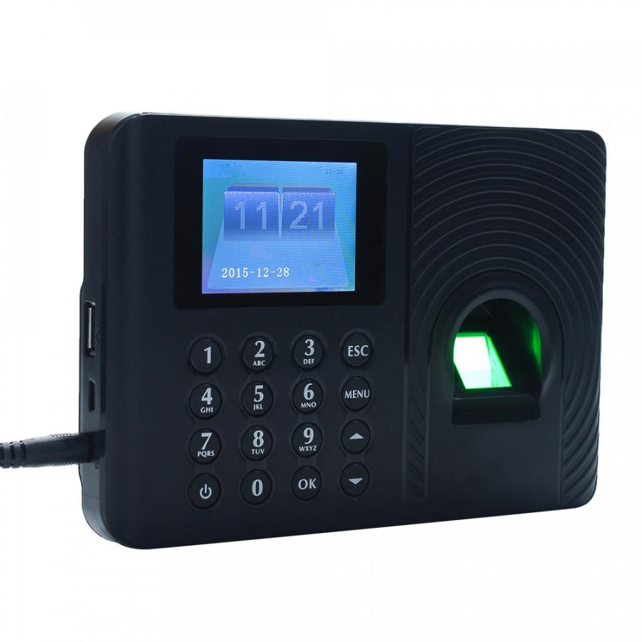 Intelligent Biometric Fingerprint Password Attendance Machine Employee Checking-in Recorder 2.4 inch TFT LCD Screen DC