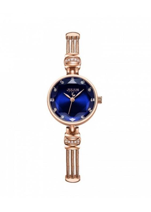 Đồng hồ nữ JA-1135C Julius Hàn Quốc dây thép (Xanh)