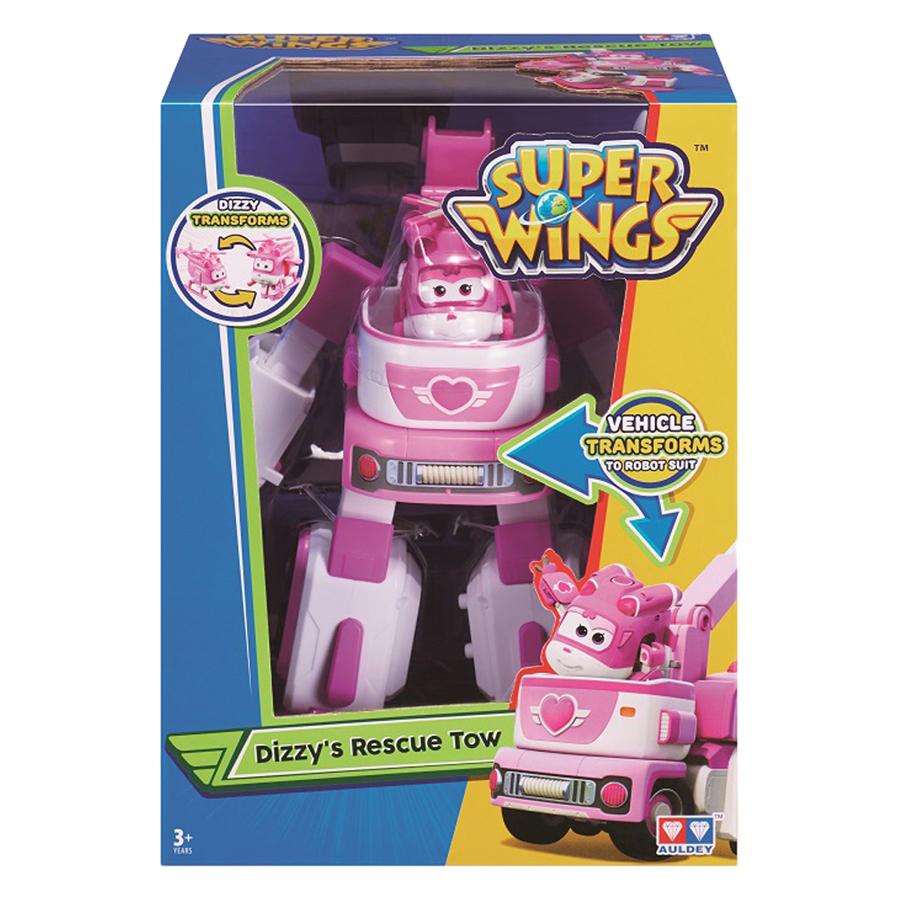 Robot Biến Hình Kết Hợp Xe Cứu Hộ Nhỏ - Dizzy Lốc Xoáy Super Wings YW720314