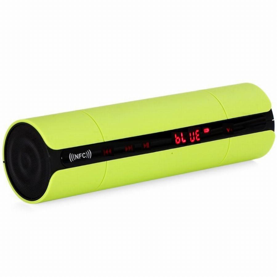 Loa nghe nhạc bluetooth gắn usb thẻ nhớ PKCB PF42 màn hình LED Xanh Neon