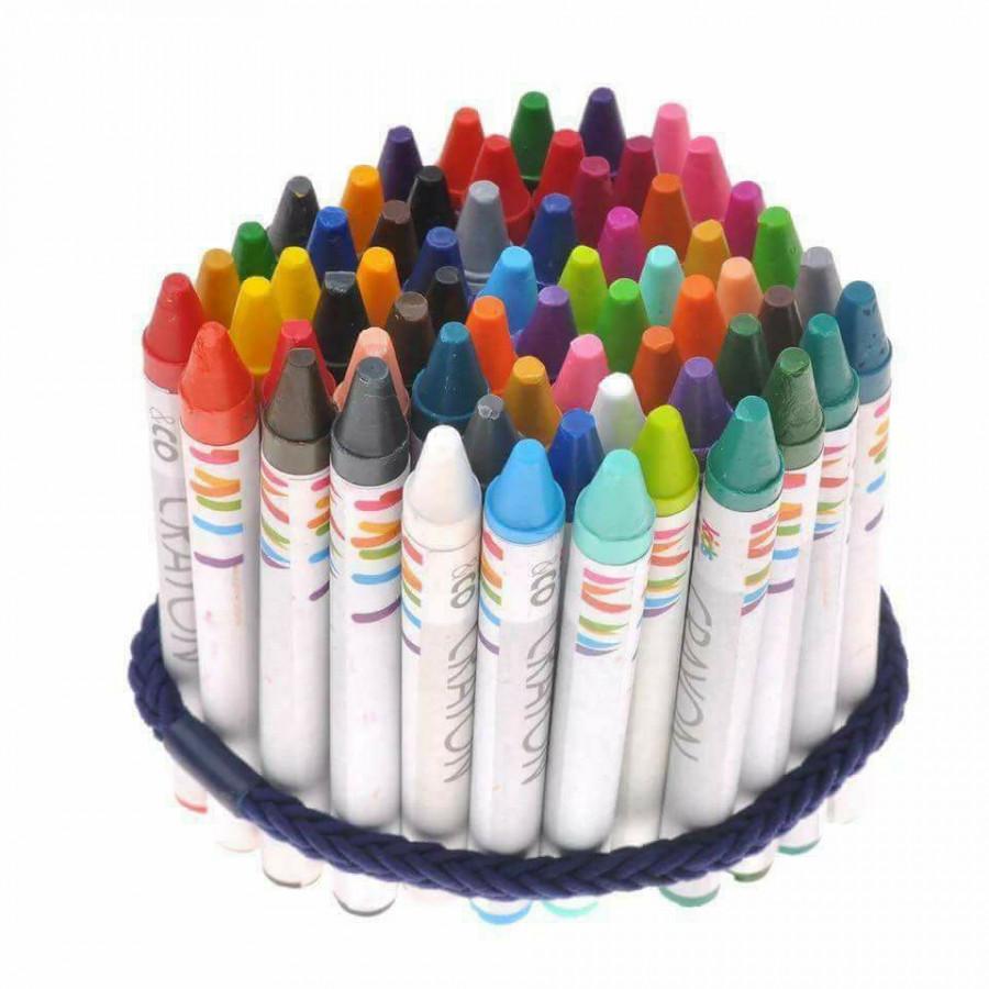 Bộ bút sáp màu 64 màu khác nhau cho bé