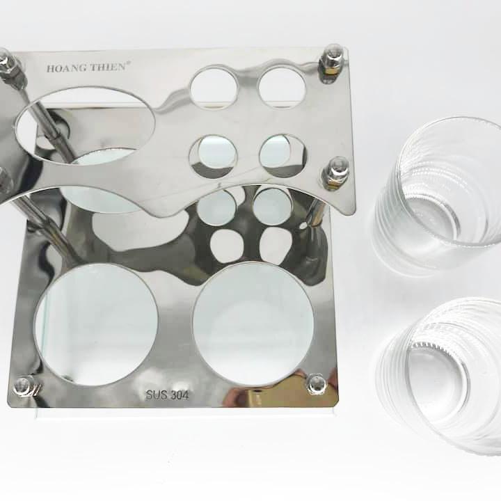 Khay đựng ly và bàn chải Inox 304 HT 118