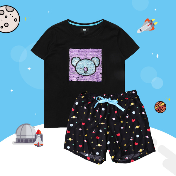 BT21 x HUNT Spangle Pajama Set Koya HILO91101T - 2325313 , 7194536197310 , 62_14994699 , 1563000 , BT21-x-HUNT-Spangle-Pajama-Set-Koya-HILO91101T-62_14994699 , tiki.vn , BT21 x HUNT Spangle Pajama Set Koya HILO91101T