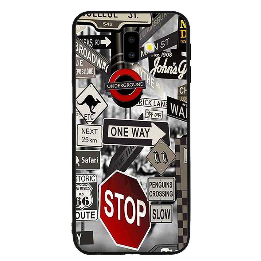 Ốp lưng viền TPU cho điện thoại Samsung Galaxy J6 Plus -Street 01