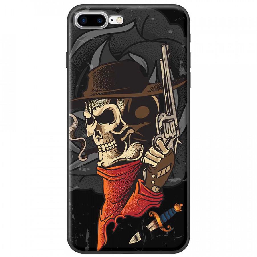 Ốp lưng dành cho iPhone 7 Plus mẫu Đầu lâu súng