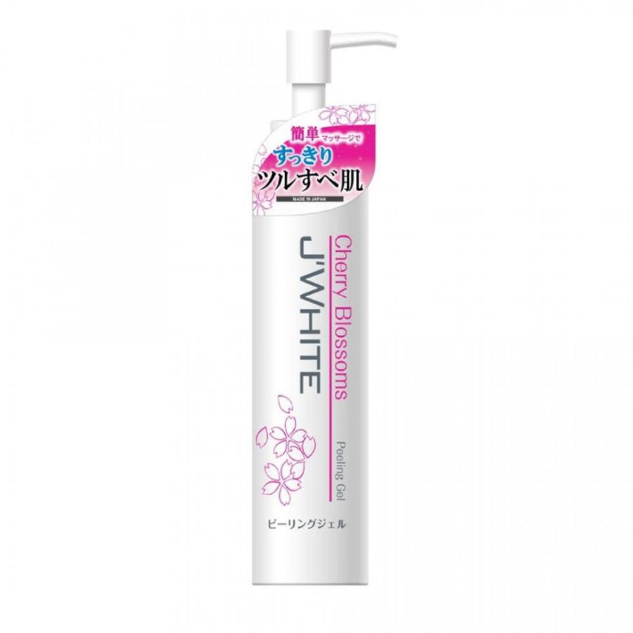 Gel tẩy tế bào chết cho da mặt cao cấp Nhật Bản J'White tinh chất hoa Anh Đào (150ml) – Hàng chính hãng