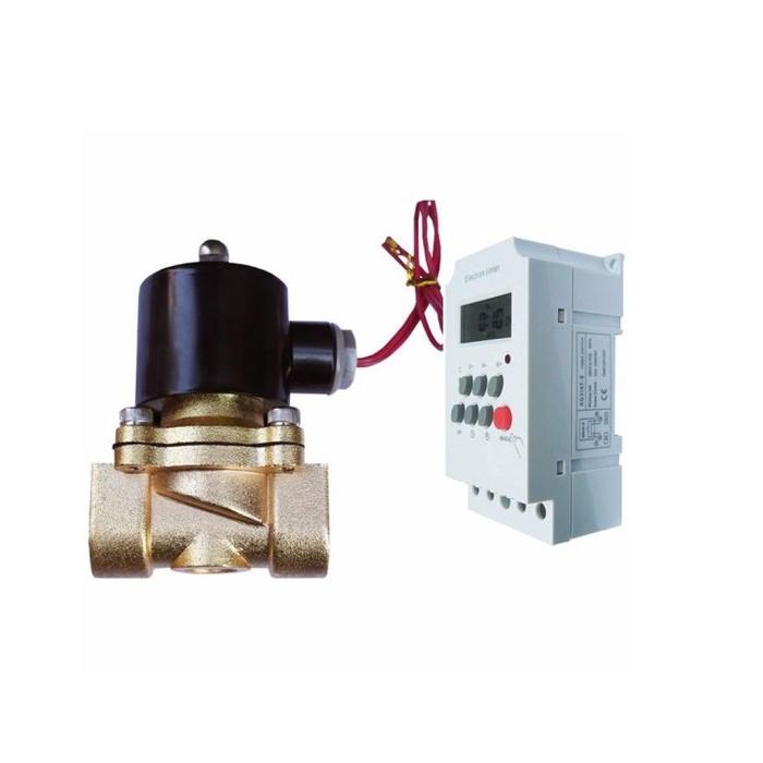 Bộ tưới cây tự động combo gồm Van điện từ pi 21+ hẹn giờ KG316T - 7403451 , 2945275496791 , 62_15341530 , 500000 , Bo-tuoi-cay-tu-dong-combo-gom-Van-dien-tu-pi-21-hen-gio-KG316T-62_15341530 , tiki.vn , Bộ tưới cây tự động combo gồm Van điện từ pi 21+ hẹn giờ KG316T