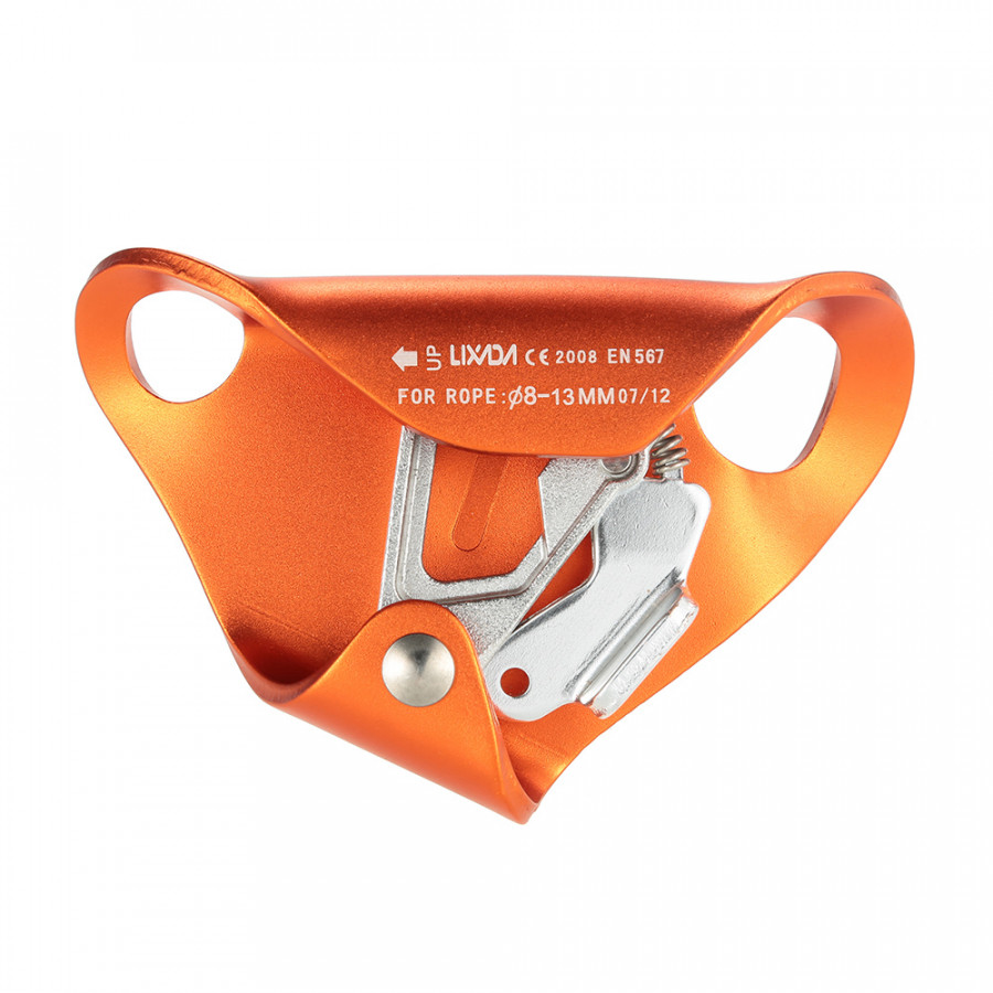 Lixada Chest Ascender for 8mm-13mm Rope Rock Climbing Caving Rescue - Orange