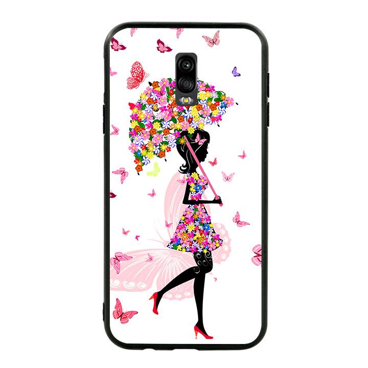 Ốp lưng viền TPU cho Samsung Galaxy J7 Plus - Beautiful Girl