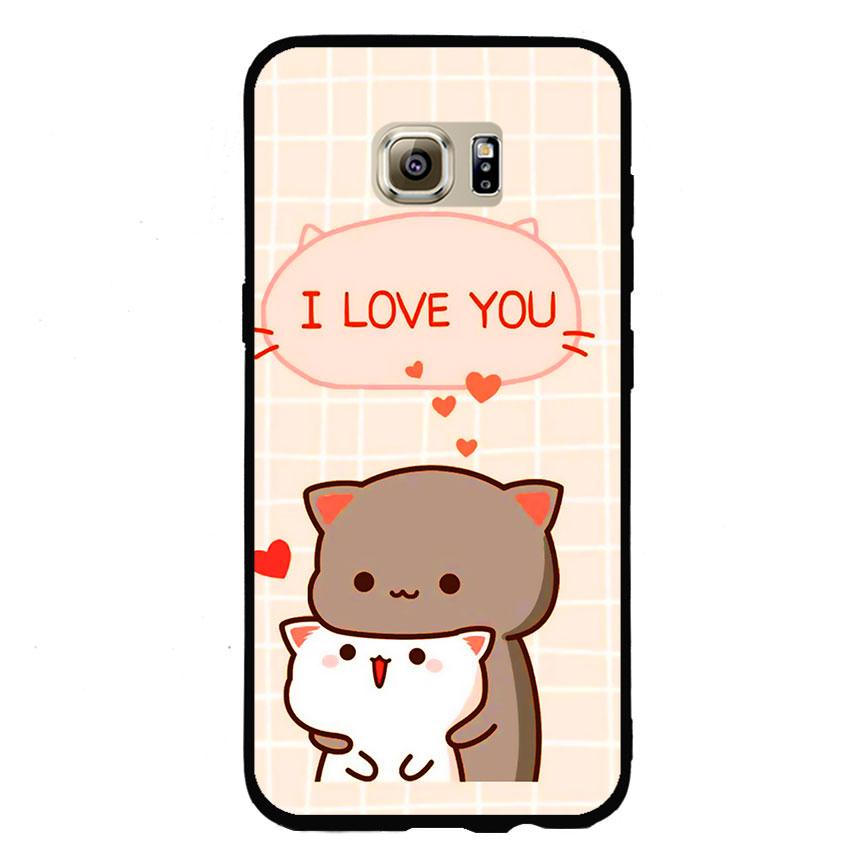 Ốp lưng viền TPU cho điện thoại Samsung Galaxy S7 Edge - I Love U