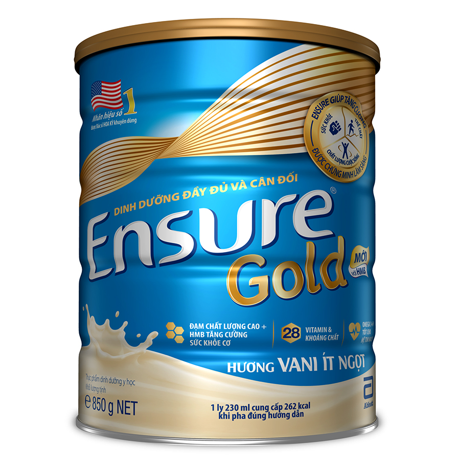 Sữa Bột Abbott Ensure Gold Hương Vani Ít Ngọt 850g - 9400464 , 1987159840130 , 62_7806112 , 760000 , Sua-Bot-Abbott-Ensure-Gold-Huong-Vani-It-Ngot-850g-62_7806112 , tiki.vn , Sữa Bột Abbott Ensure Gold Hương Vani Ít Ngọt 850g
