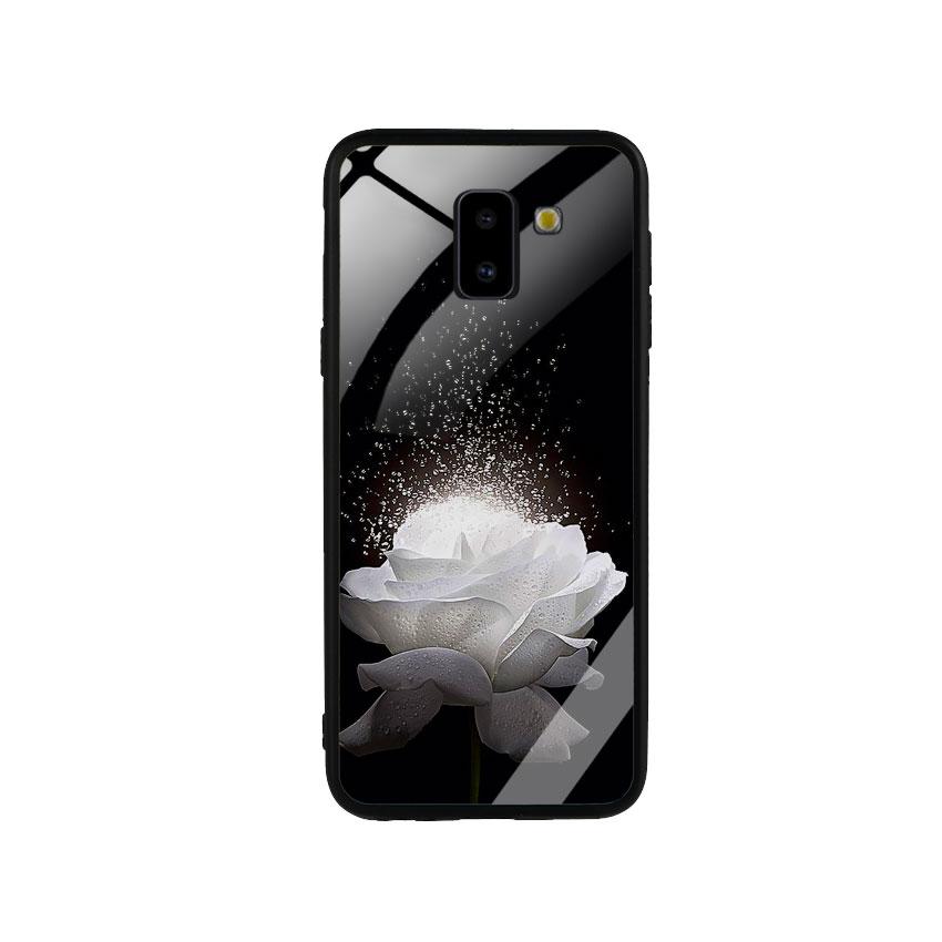 Ốp Lưng Kính Cường Lực cho điện thoại Samsung Galaxy J6 2018 -  0324 ROSE03