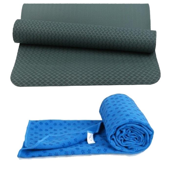 Combo Thảm tập yoga TPE 8mm 1 lớp (Xanh rêu) + Khăn trải thảm hạt nổi silicon (Màu ngẫu nhiên) - 1336234 , 6378400574860 , 62_5573975 , 650000 , Combo-Tham-tap-yoga-TPE-8mm-1-lop-Xanh-reu-Khan-trai-tham-hat-noi-silicon-Mau-ngau-nhien-62_5573975 , tiki.vn , Combo Thảm tập yoga TPE 8mm 1 lớp (Xanh rêu) + Khăn trải thảm hạt nổi silicon (Màu ngẫu nhiên)