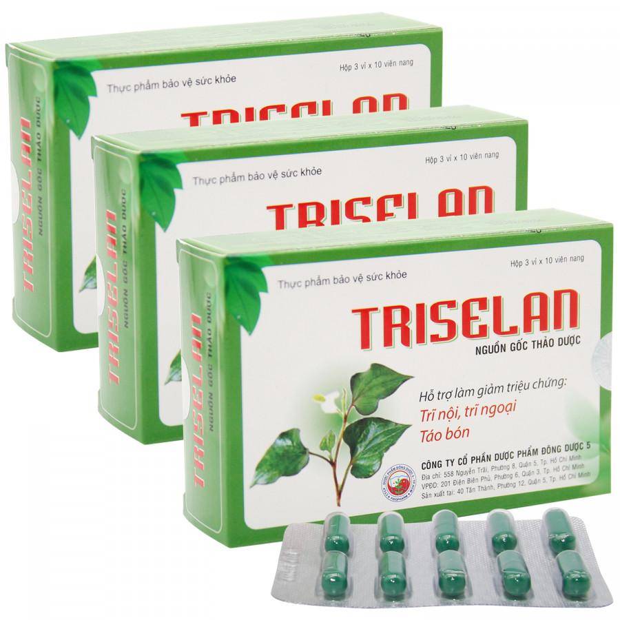 Thực phẩm chức năng Bộ 3 hộp thực phẩm bảo vệ sức khỏe Triselan (hộp 30 viên) - 1841433 , 1063757456628 , 62_13857711 , 297000 , Thuc-pham-chuc-nang-Bo-3-hop-thuc-pham-bao-ve-suc-khoe-Triselan-hop-30-vien-62_13857711 , tiki.vn , Thực phẩm chức năng Bộ 3 hộp thực phẩm bảo vệ sức khỏe Triselan (hộp 30 viên)