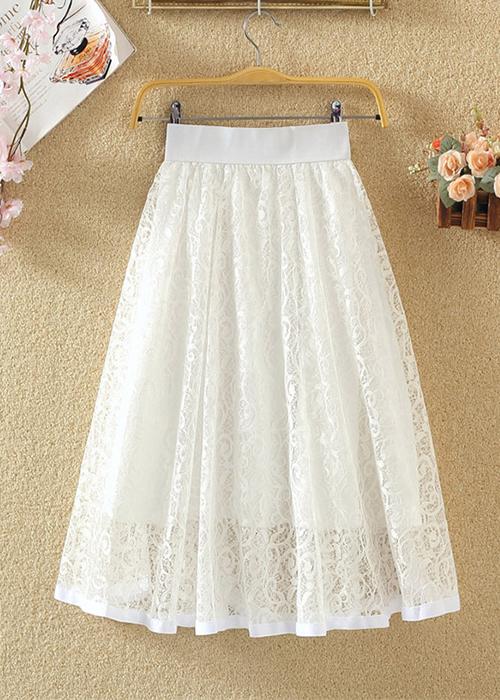 Chân váy ren hoa xòe 2 lớp Haint Boutique Cv18