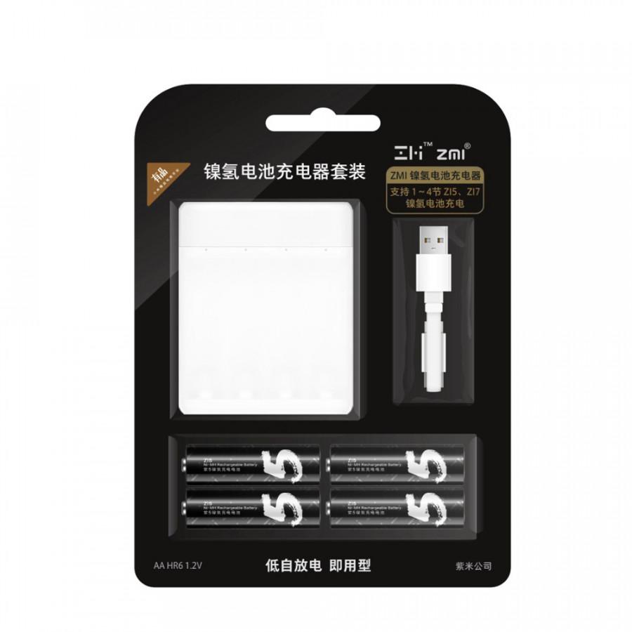 Bộ Sạc Pin Xiaomi ZMI Ni-MH Cho Pin AA Z15 Z17 (4 Khe)