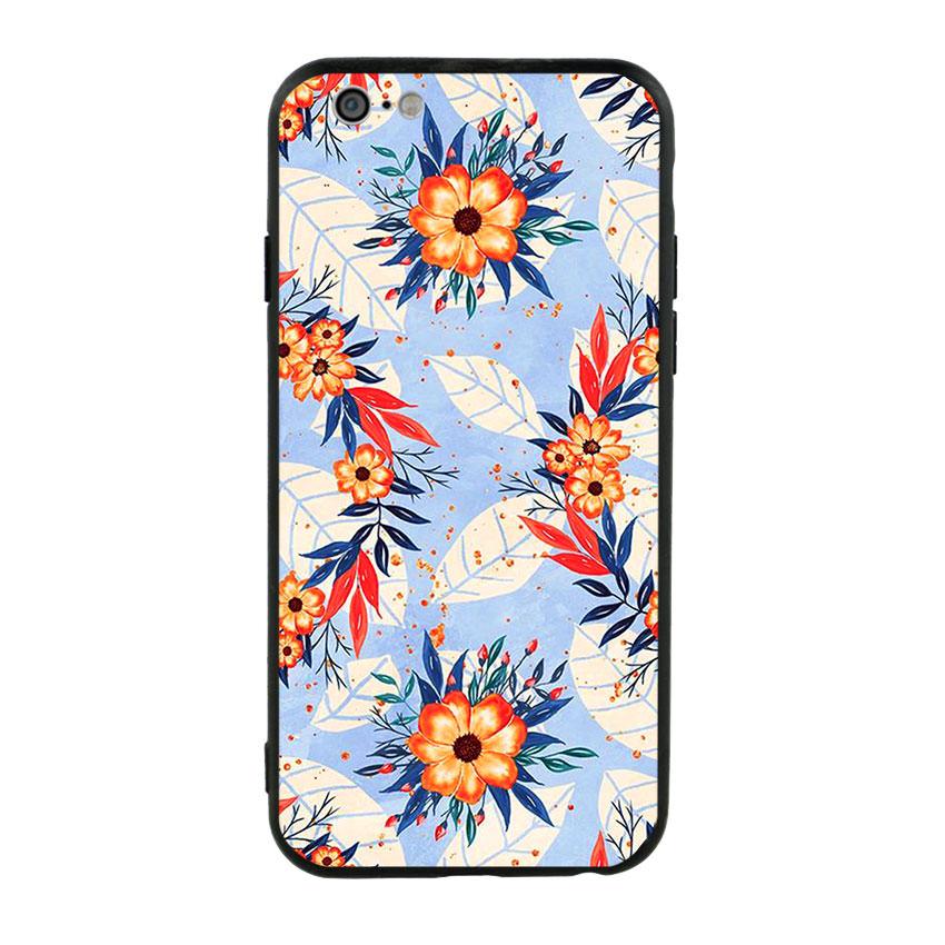 Ốp lưng viền TPU cho điện thoại Iphone 6/6s - Flower 16