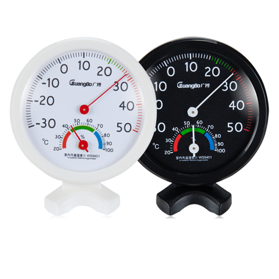 Guangbo (GuangBo) small desktop thermometer and hygrometer / thermometer color random single WS9401
