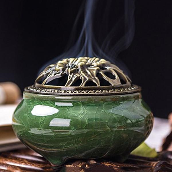 Lư xông trầm hương xanh lá cây nắp đồng  - Tặng kèm 10 nụ trầm hương - 778910 , 1653879833140 , 62_11426528 , 200000 , Lu-xong-tram-huong-xanh-la-cay-nap-dong-Tang-kem-10-nu-tram-huong-62_11426528 , tiki.vn , Lư xông trầm hương xanh lá cây nắp đồng  - Tặng kèm 10 nụ trầm hương