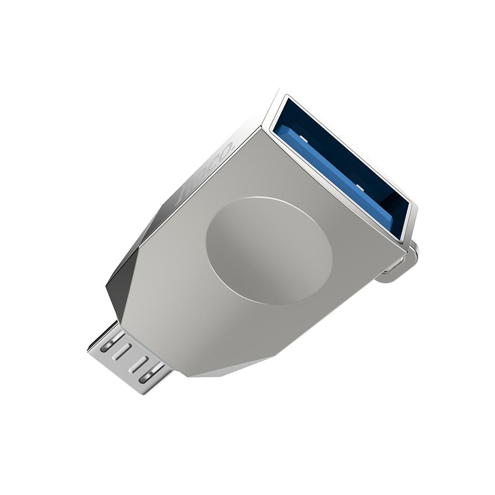 Bộ Chuyển Đổi UA10 Micro USB Sang USB 3.0 OTG Hợp Kim Kẽm Hoco.
