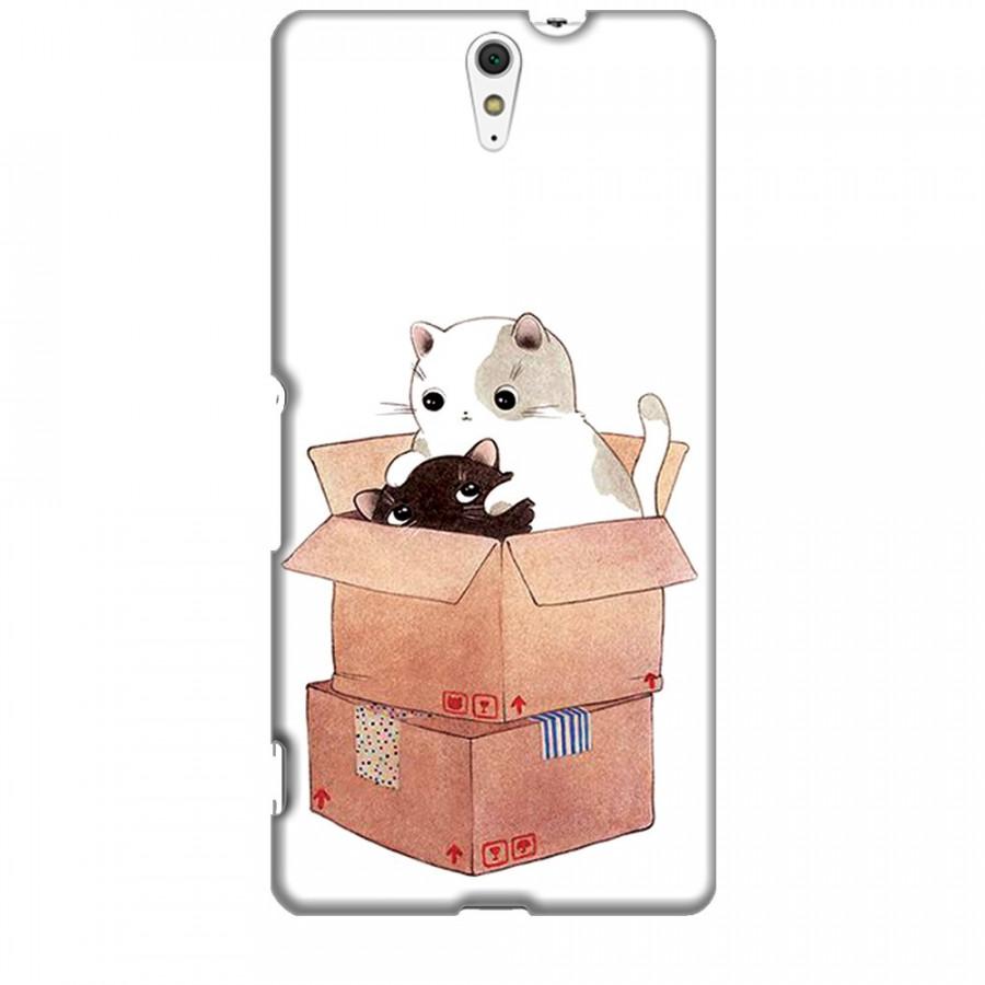 Ốp lưng dành cho điện thoại SONY C5 ULTRA Mèo Con Dễ Thương
