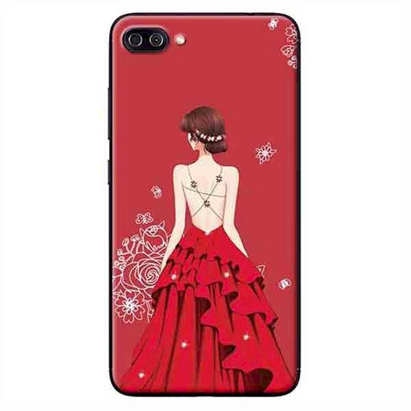 Ốp Lưng Dành Cho Asus Zenfone 4 Max Pro ZC554KL - Cô Gái Váy Đỏ Áo Dây