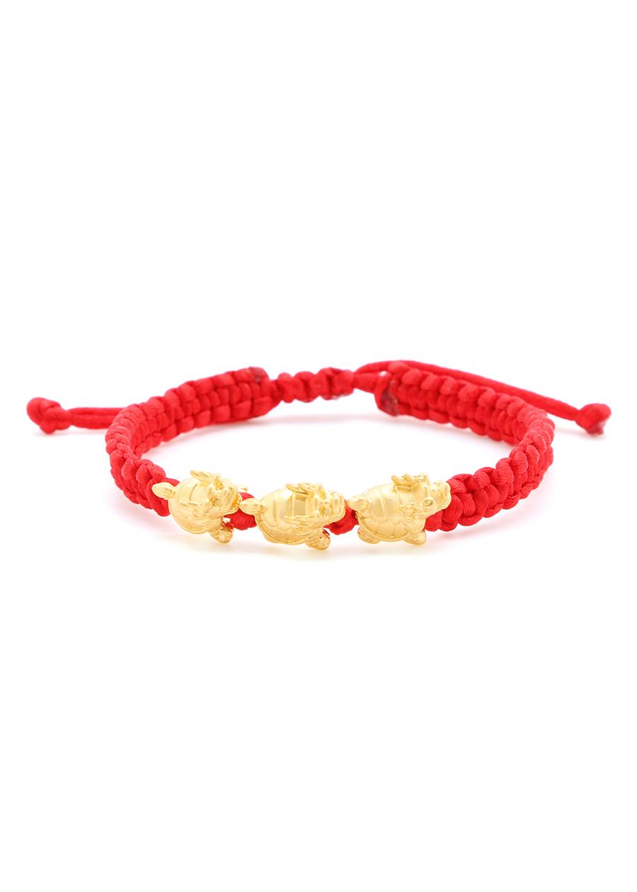 Vòng Tay Handmade Vàng 24K Long Quy Tam Tài - ANCARAT