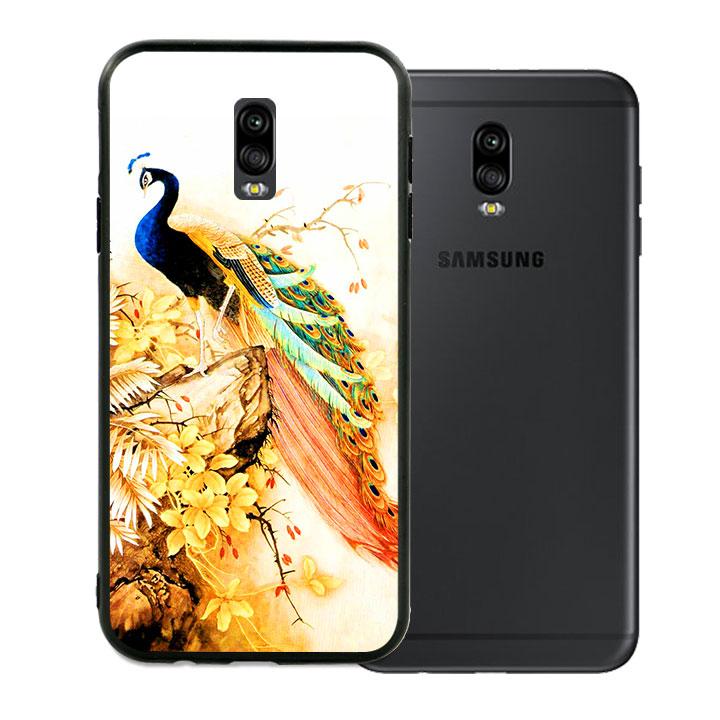 Ốp lưng viền TPU cao cấp dành cho Samsung Galaxy J7 Pro - Khổng Tước