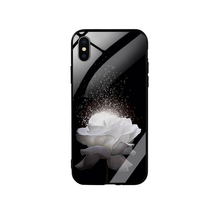 Ốp Lưng Kính Cường Lực cho điện thoại Iphone X / Xs -  0324 ROSE03
