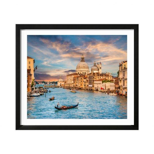 Tranh trang trí in PP Đò đưa Venice xinh đẹp