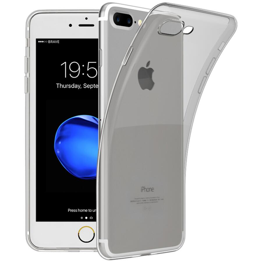 Ốp Nhựa Dẻo Biaze JK251 Chống Sốc Cho iPhone 7 Plus/ 8 Plus - Đen Trong Suốt