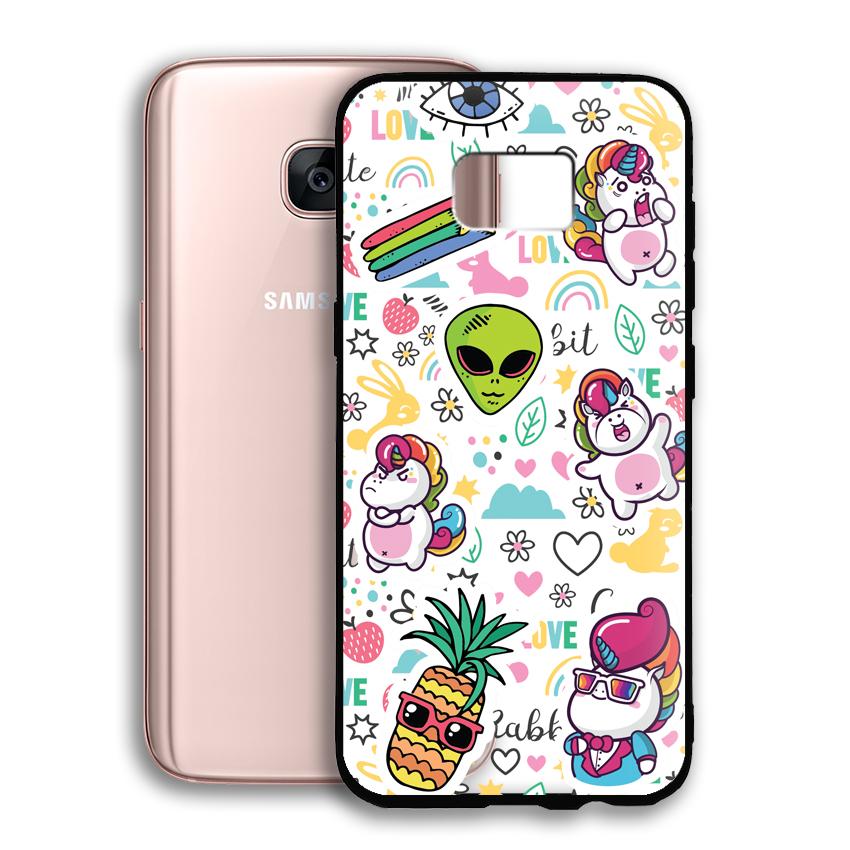 Ốp lưng viền TPU cho điện thoại Samsung Galaxy S7 Edge - 02048 0525 LOL03 - Hàng Chính Hãng