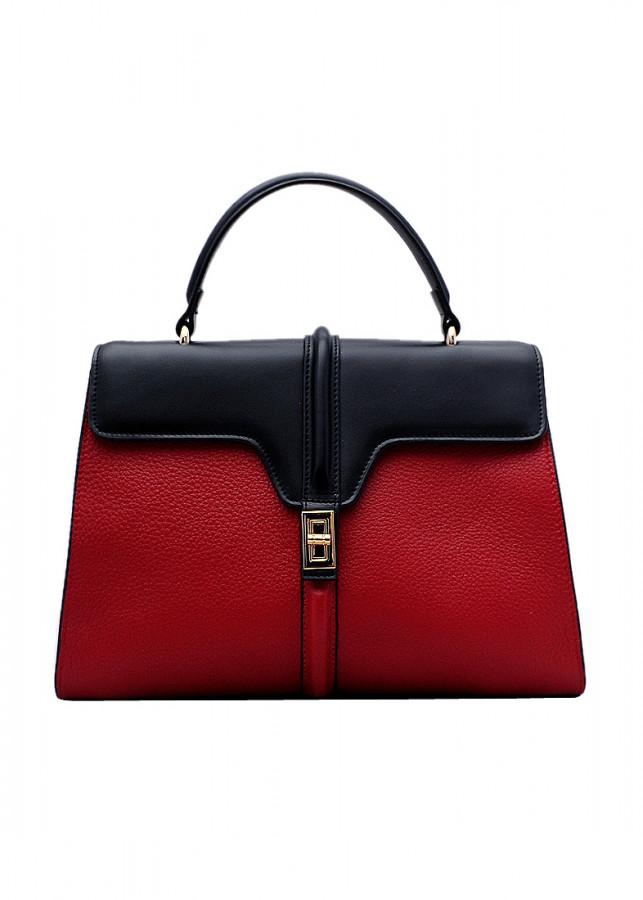 Túi xách tay nữ da bò thật màu đỏ ET639