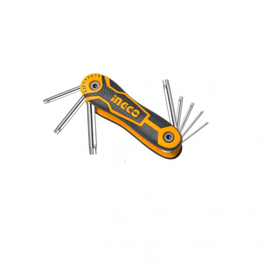 Bộ 8 chìa lục giác bông Ingco HHK14083