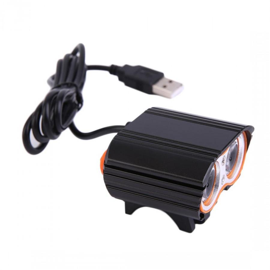 Xx2 Usb Bicycle Headlamp  Black