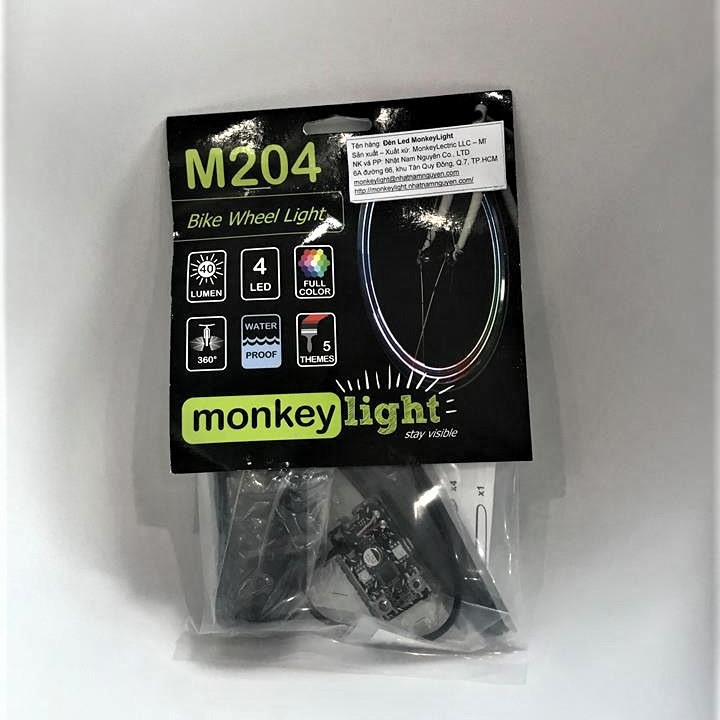 Đèn led xe đạp Monkey Light M204