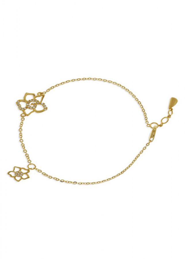 Lắc Tay Nữ Vàng 14K - LLF47 Huy Thanh Jewelry - 0,557 chỉ