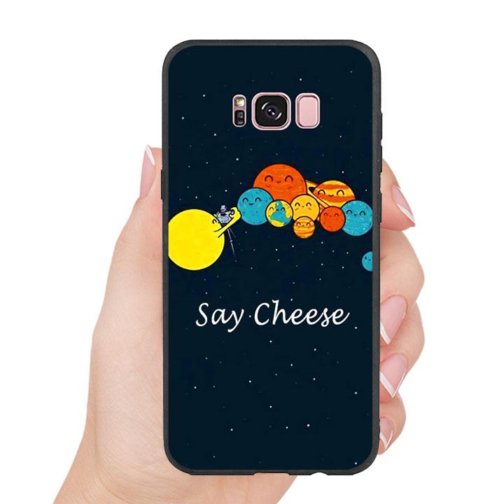 Ốp lưng nhựa cứng viền dẻo TPU cho Samsung Galaxy S8 Plus - Say Cheese