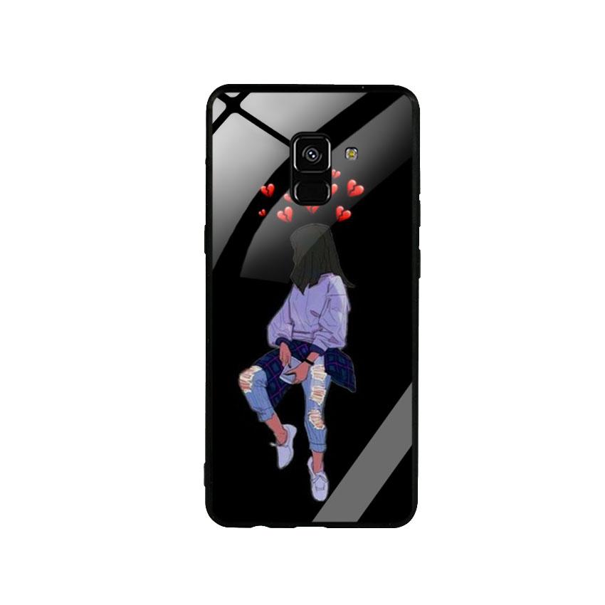 Ốp Lưng Kính Cường Lực cho điện thoại Samsung Galaxy A8 Plus - Alone 05