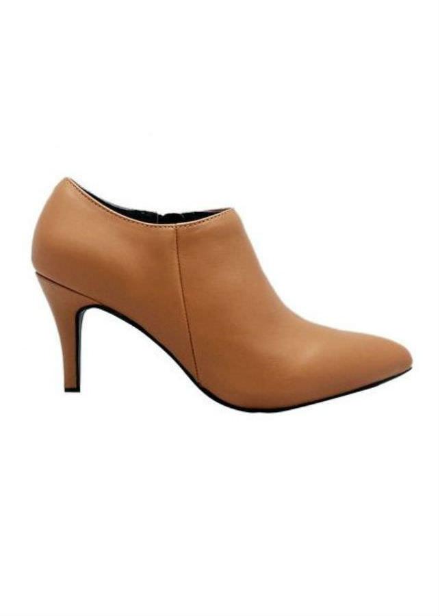 Giày Boot Cao Gót Nữ Da Bò Elmi ESW236 - Vàng Bò
