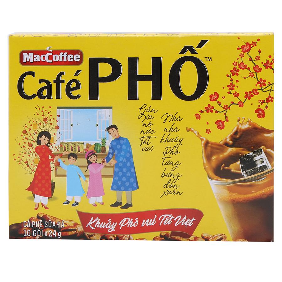 Cà Phê Sữa Đá Café Phố MacCoffee Phiên Bản Tết (10 Gói x 24g)