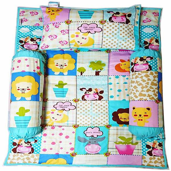 Bộ 4 Món Ga Gối Cho Bé Sleep Baby  I Am Very Happy - F170